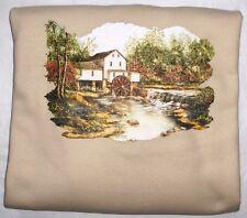 """Pigeon Hollow Mill"" Gildan (Sand) Fleece Long Sleeve  Crew Neck Sweatshirt"