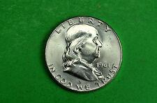 1961-P   BU  Mint State  Franklin  SILVER  Half  Dollar (90% Silver)