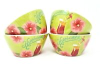 Tommy Bahama Melamine Bowls, Set of 4, Dipping, Dessert, Snack, Hurricane