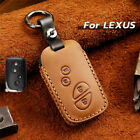 Real Leather Car Remote Key Fob Holder Case Cover Shell For Lexus Styling Parts
