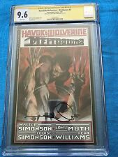 Havok & Wolverine Meltdown #3 - CGC SS 9.6 NM+ - Signed by W & L by Simonson