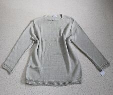 Julia LAGENLOOK BASIC Pullover EG 46 48 50 XL-XXL grau massiv Musterstrick NEU