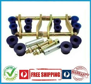 HOLDEN COLORADO RG 4X4 12-ON REAR LEAF SPRING BUSH GREASABLE PIN & SHACKLE KIT