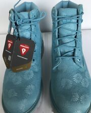 "Timberland 6"" Classic Boot Big Kid Size 4 Junior Blue Floral New In BoxTB0A174M"