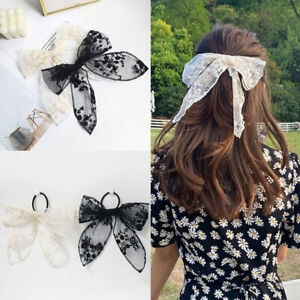 Girl Lace Bowknot Hair Clip Hair Accessory Elastic Hair Band Scrunchies Hair Tie