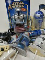 Star Wars Candy Lot Pop Topper, Dipper Candy, Fett Gum Dispense, Lightsaber