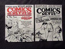 1994 COMICS REVUE Magazine #93 FVF #114 VG LOT of 2 Spider-Man Flash Gordon