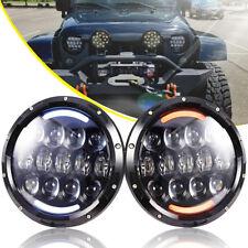 Kenworth T2000 1997-2011 Pair 7inch 75W Each LED Headlight DRL Hi/Lo Beam