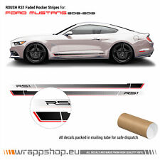 Ford Mustang 2015 - 2019 Roush RS1 faded rocker stripes