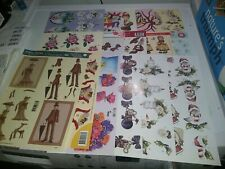 16X 3D SHEETS FOR MAKE CARDS 30X21 CM NEW (A8677) SCISSORS NEED MIXED THEMES