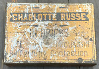 Vintage Charlotte Russe in Bricks Delicious Confection Candy Advertising Tin