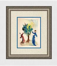 "Charming 1960 SALVADOR DALI ORIGINAL Woodcut ""The Tree of Penitence"" Framed COA"