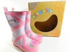 Kidorable Girls Ballet Rain Boots Purple & Pink NIB Size 8
