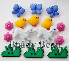 Easter spring My Little Chickadee novelty Dress it up plastic craft buttons lamb