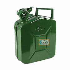 5 LITRE Metal JERRY CAN Fuel Liquid Oil Green Military Army Container