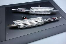 CLIGNOTANTS LATERAUX LED BMW SERIE 5 E60 BERLINE 520d 525d 530 CHROME MOTOSPORT