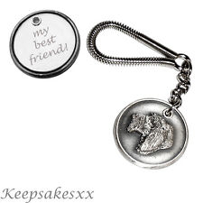 Italian Spinone - Dog Tag UK Disc KEYRING  with PERSONALISED ENGRAVING
