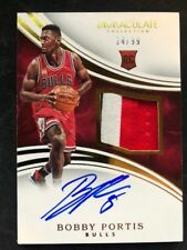 2016 BOBBY PORTIS IMMACULATE COLLECTION ROOKIE CARD 14/99 3 COLOR PATCH AUTO RC