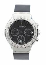 HUBLOT Classic Chronograph Stainless Steel Quartz MDM Black Dial Watch 1621.1