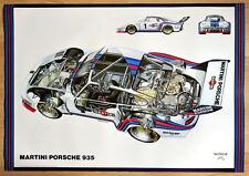 """orginal Plakat Renn Poster """"Martini Porsche 935"""" Porsche 1976 Klassik"""