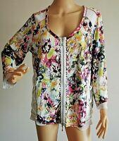 BiBA Traumschöne Damen Shirtjacke Jacke Shirt Gemustert Gr. XL #LRS1907