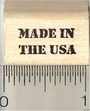 Made in the USA Rubber Stamp, Tiny Text Saying A4923 WM