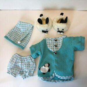 "Tender Heart Treasures, 12"" Bear,  Little Lamb P.J. Outfit, Complete, Retired"