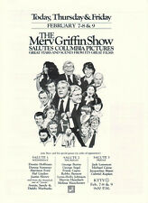Merv Griffin Show Salutes Columbia Pictures 1979 Ad- Donna Summer Frank Capra
