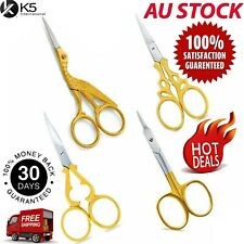 4 x Stork Small Gold Embroidery Baby Toe Nail Art Manicure Cuticle Bird Scissors