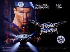 "Street-Fighter 1996 Van Damme Quad poster REPRO UK 30x40"" FREE P&P Streetfighter"