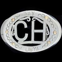 Oxy CH Libya Handmade Oilfield Drilling Terminal Petroleum Vintage Belt Buckle