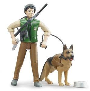 Agent forestier avec chien et accessoires,BRU62660, échelle1/16,BRUDER