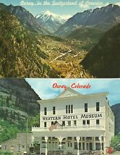 Ouray, CO / 2 Different: Aerial View & Western Hotel Museum / 1960's / Lot S257