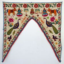 Vintage Door Valance Window Decor Wall Hanging Hand Embroidered 44 x 48 inch X13