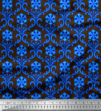 Soimoi Fabric Floral Damask Decor Fabric Printed Meter - DK-524C