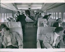 1969 Interior 747 Airplane Passengers Large Chairs Spiral Stair Plane Photo 8X10