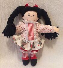 Vintage 1989 Applause Soft Plush Doll Punkin Head 15233 Black Hair Braids