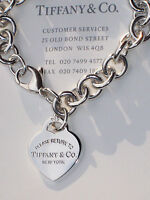 Tiffany & Co Return To Tiffany Sterling Silver Heart Tag Charm Bracelet