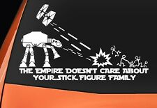 Star Wars vs Stick figure Family Autocollant Vinyle Autocollant Voiture Van Camion Fenêtre Pare-chocs