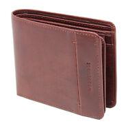 Woodbridge London Mens Soft Leather Wallet Cardholder Billfold Purse 4002-BROWN