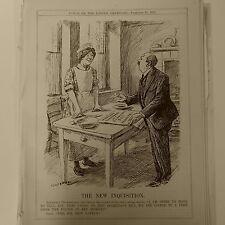 "7x10"" punch cartoon 1925 THE NEW INQUISITION wireless telegraphy bill"