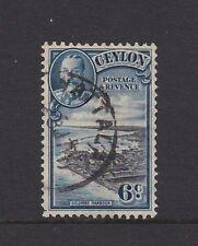 CEYLON 1936 6c Definitive Used Colombo Harbour MATTALA cds