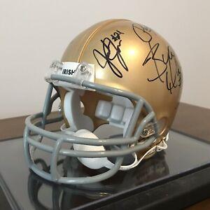 Notre Dame Autographed Mini Helmet