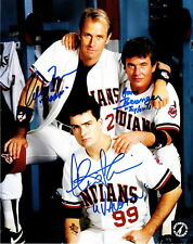 Charlie Sheen, Tom Berenger & Bernsen Autographed Major League 8x10 ASI Proof
