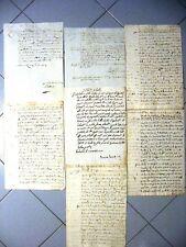 K883-BRESCIA-PALAZZOLO SULL'OGLIO-LOTTO MANOSCRITTI 1600/1700