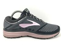 Brooks Revel Gray Pink Athletic Running Shoes Sneakers Women's Size 10 B