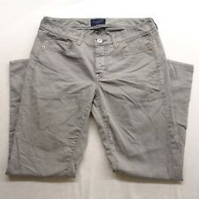 New American Eagle Womens Light Gray Casual Stretch Jegging Cotton Pants Size 4