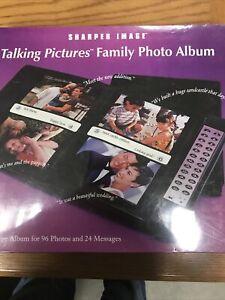 SHARPER IMAGE TALKING PICTURES FAMILY PHOTO ALBUM