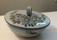 Hand Painted Italian Pottery Covered Dish