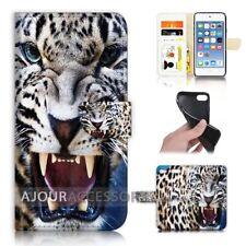 ( For iPod Touch 6 ) Wallet Flip Case Cover AJ40648 Leopard